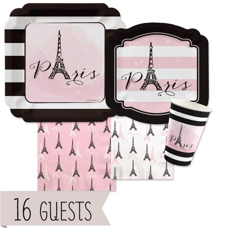 Paris, Ooh La La - Party Tableware Plates, Cups, Napkins - Bundle for - Napkins For Party