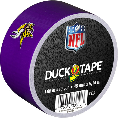 "Duck Brand Duct Tape, NFL Duck Tape, 1.88"" x 10 yard, Minnesota Vikings"