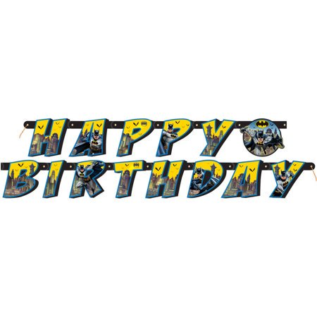 Batman Themed Birthday Party ((3 Pack) Batman Birthday Banner, 6 ft,)