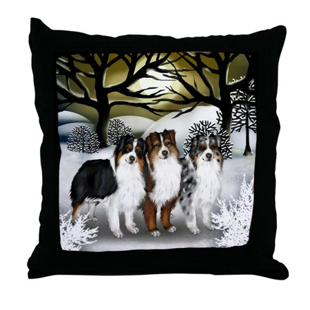 CafePress - AUSTRALIAN SHEPHERD DOGS WINTER SUN - Decor Throw Pillow (18