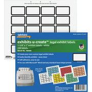 "Tabbies Legal Exhibits-U-Create 1"" Labels, White, 240 / Pack (Quantity)"