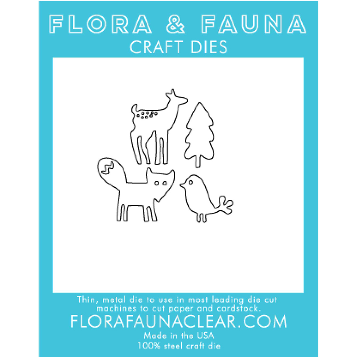 Flora & Fauna Dies-Woodland Animals