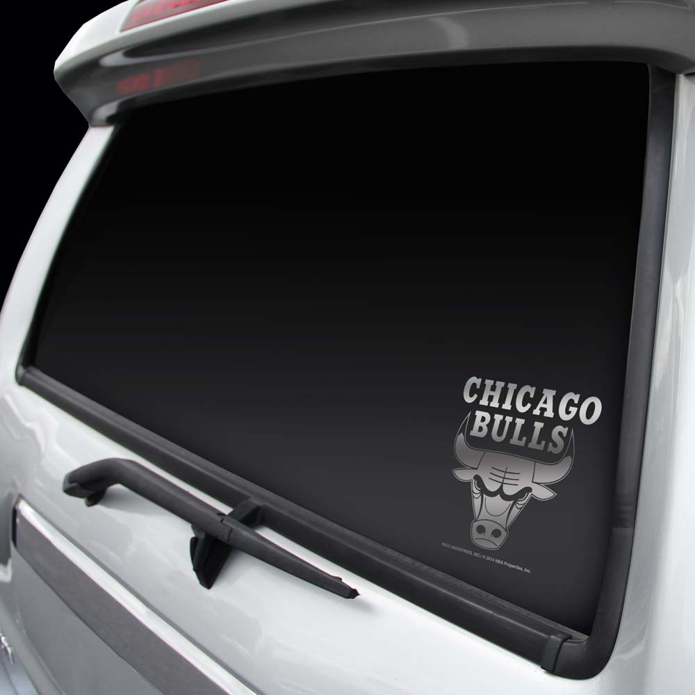 Chicago Bulls Chrome Window Graphic Decal