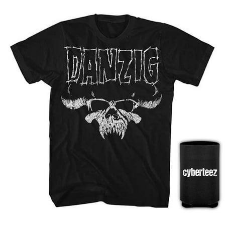 Danzig Skull Distressed Misfits T-Shirt + Coolie - Halloween Misfits Danzig