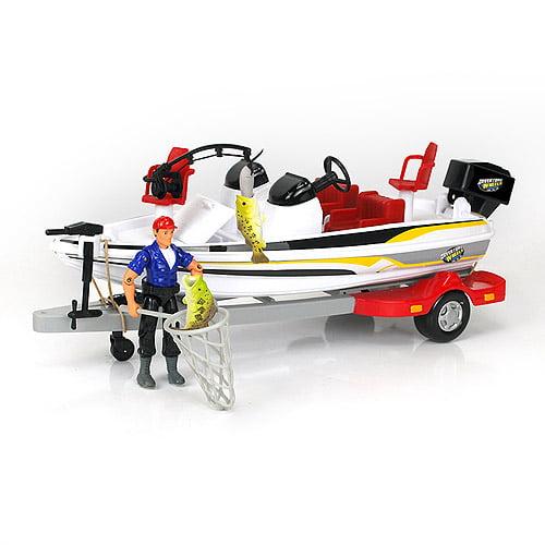 Adventure Wheels Deluxe Bass Boat Vehicle Set