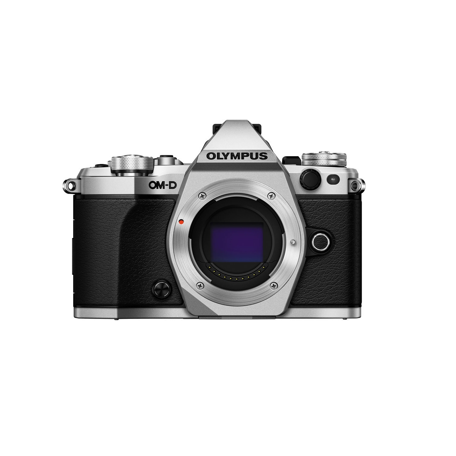 Olympus OM-D E-M5 Mark II Mirrorless Camera (Body Only), Silver by Olympus