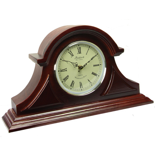 Bedford Clock Collection Redwood Mantel Clock with Chimes by Overstock