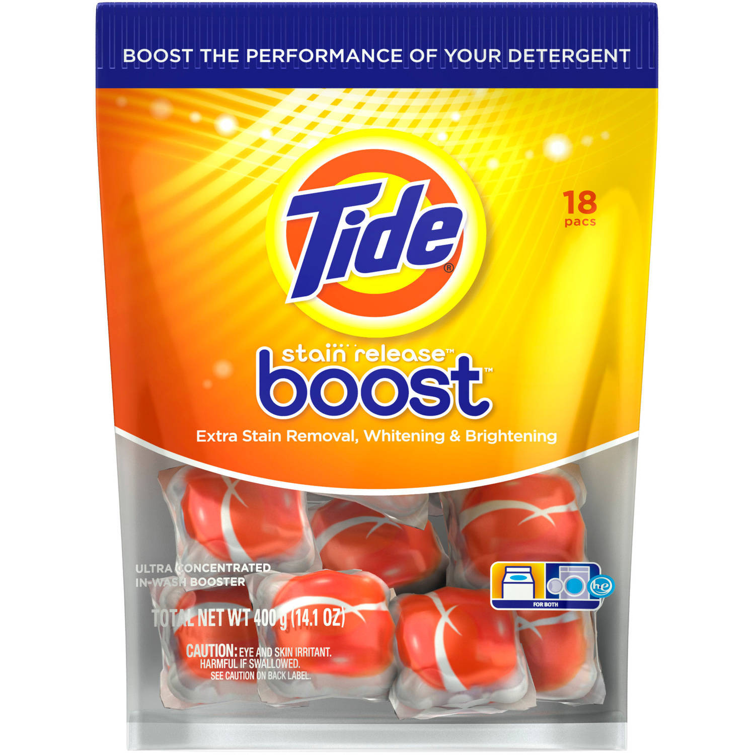 Tide Boost Duo Pac In-Wash Laundry Booster, 18 count