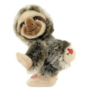 """Way to Celebrate Valentine's Day 11"""" Animated Sing and Twerk Sloth Plush Toy"""