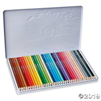 Set of 36 Colored Pencils in a Tin