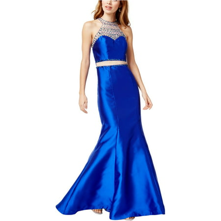 Say Yes To The Prom Womens Embellished Gown Dress