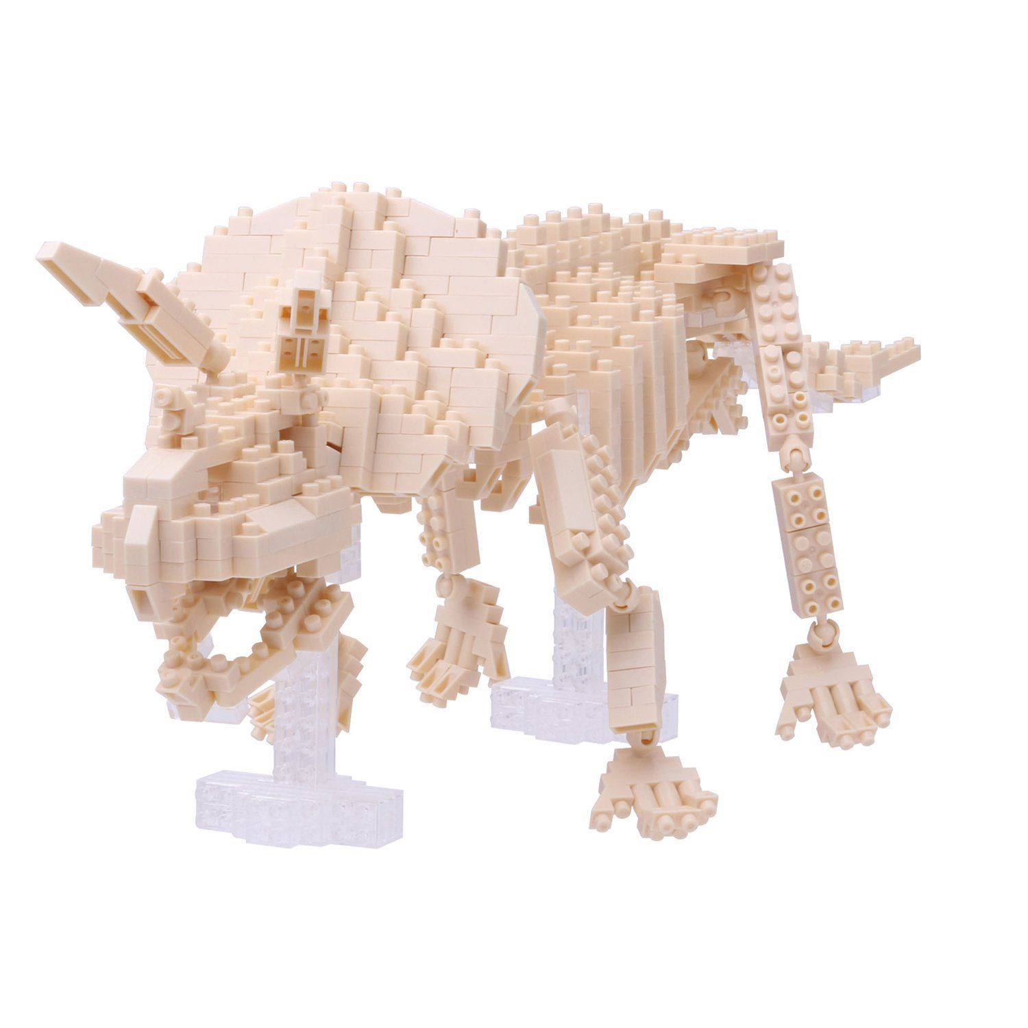 Triceratops Skeleton Building Kit, Straight out of the museum, this Dino skeleton shows... by