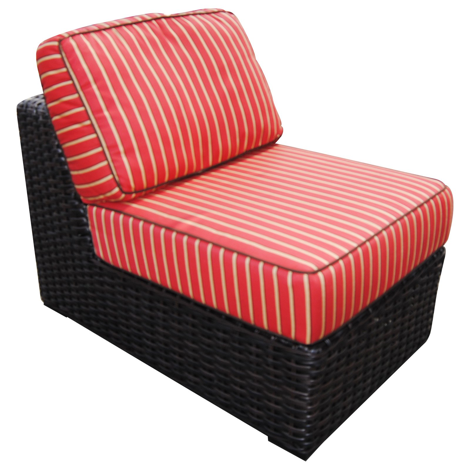 Teva Patio Santa Monica Wicker Rattan Middle of Patio Sectional