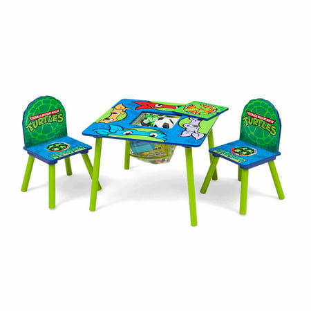 Nickelodeon Teenage Mutant Ninja Turtles Wood Kids Storage Table and Chairs Set by Delta Children