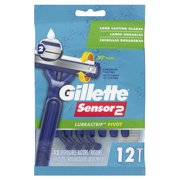 Gillette Sensor2 Pivoting Head Mens Disposable Razors, 12 ct