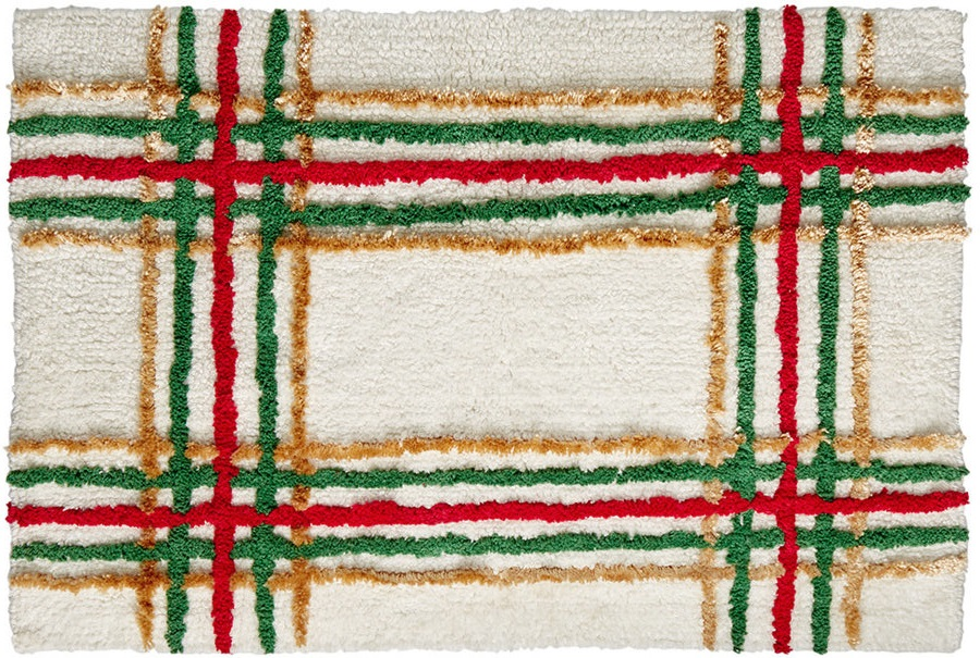 Lenox Holiday Nouveau Plaid Christmas Bath Mat