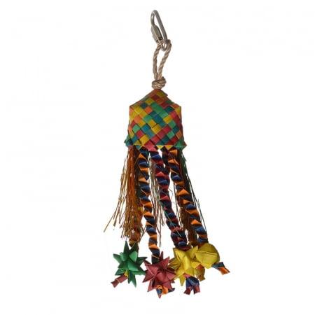 Hari Rustic Treasures Star Basket Bird Toy - Small - (Assorted Colors) ()