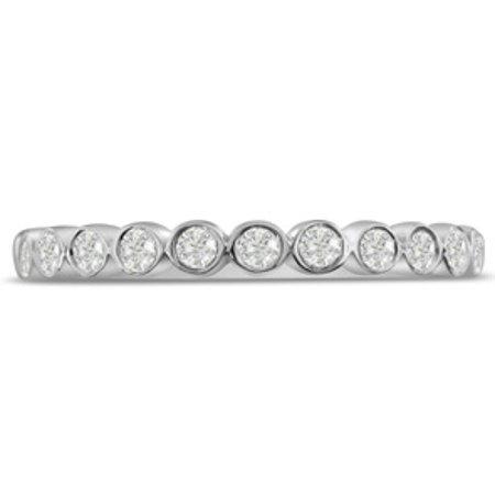 1/4ct Bezel Set Diamond Wedding Band In 14 Karat White Gold Size (Bezel 14k White Gold Band)
