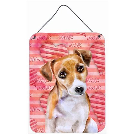 Carolines Treasures BB9800DS1216 Jack Russell Terrier No.2 Love Wall or Door Hanging Prints - image 1 of 1