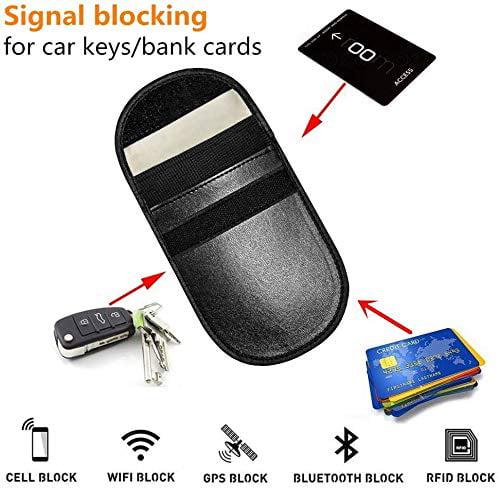 RFID Key MONOJOY 2 X Car Key Signal Blocker Pouch Faraday Bag for Car Keys