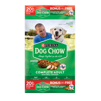 Purina Dog Chow Dry Dog Food; Complete Adult With Real Chicken - 20 lb. Bag