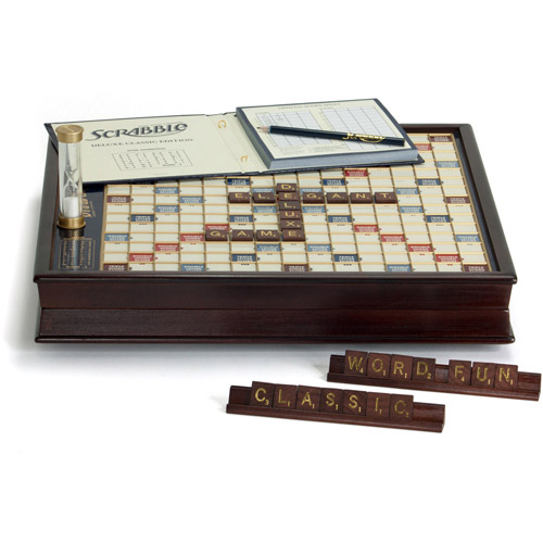 Winning Solutions Scrabble Game Deluxe Wooden Edition by Winning Solutions