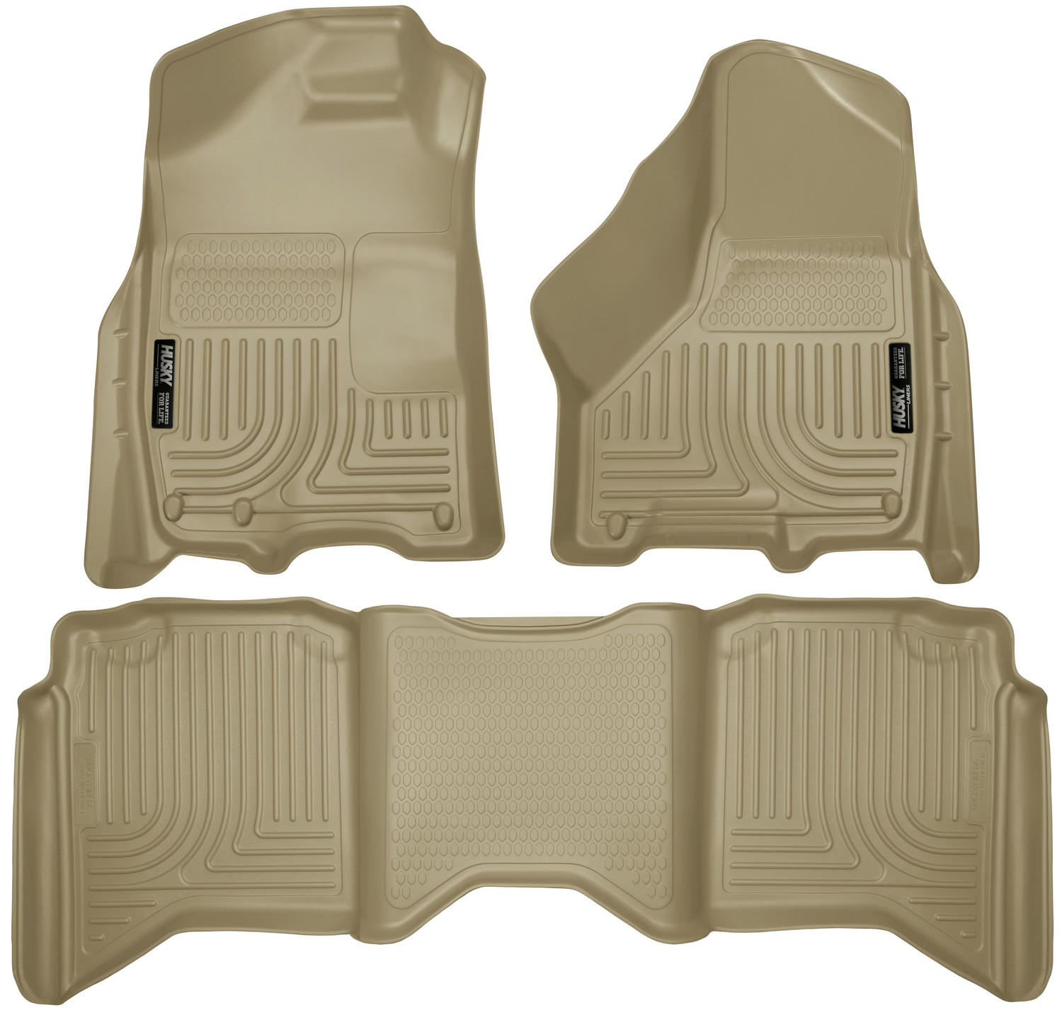 Husky Liners Front & 2nd Seat Floor Liners Fits 09-18 Ram 1500 Crew Cab