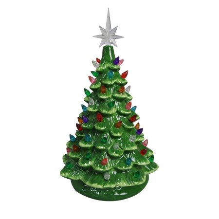 christmas is forever lighted tabletop ceramic tree 11 green treemulti color lights