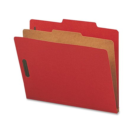 Nature Saver, NATSP17201, 1-Divider Recycled Classification Folders, 10 / Box, Bright Red