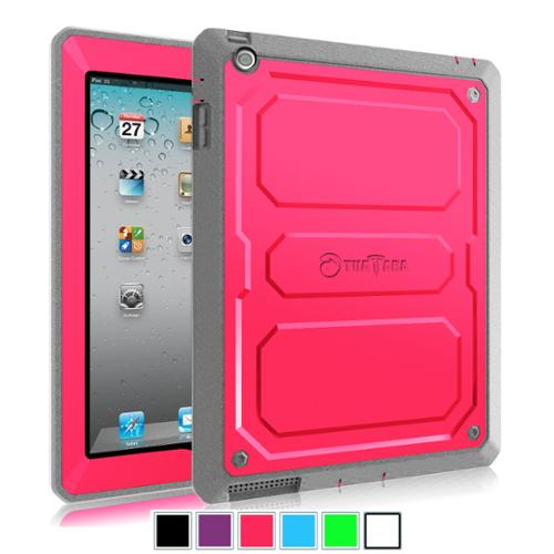 Fintie Case for iPad 4 / iPad 3/ iPad 2 - Dual Layer Full Protective with Built-in Screen Protector Cover, Magenta