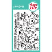 Avery Elle  Clear Stamp Set 4inX6in-Red & Goldie