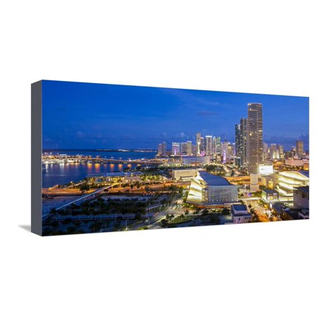 Elevated View over Biscayne Boulevard and the Skyline of Miami, Florida, United States of America Stretched Canvas Print Wall Art By Gavin Hellier](Biscayne Boulevard)