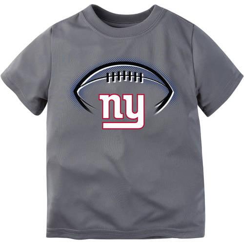 NFL New York Giants Boys Short Sleeve Performance Team T Shirt