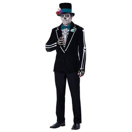 Mens El Novio Muerto Halloween Costume - Men In Black Costume