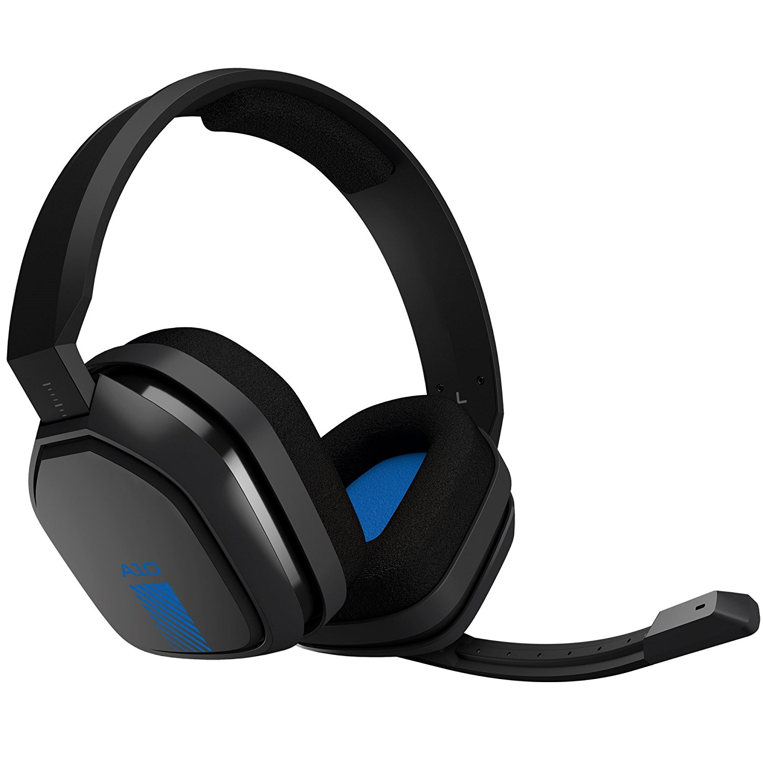 Refurbished Logitech Astro A10 Wired Gaming Pc Ps4 Headset W Boom Mic 3 5mm Gray Blue Walmart Com Walmart Com