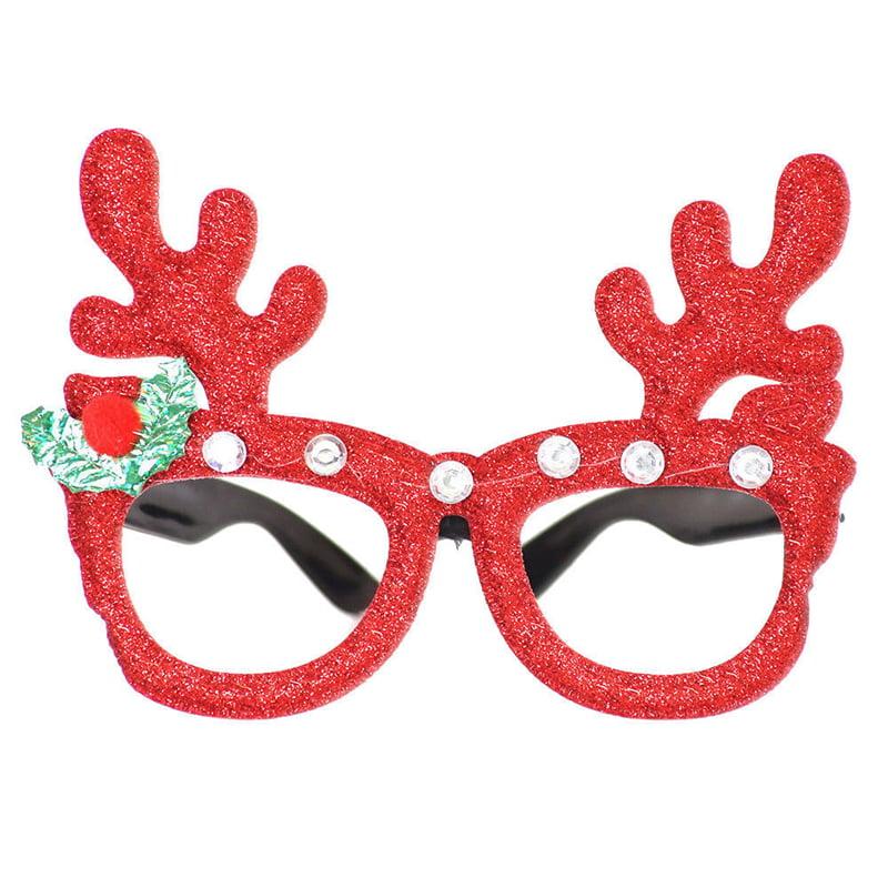 Christmas Party Glasses Santa Snowman Adult Kids Gift Favors Xmas Decoration Toy