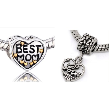 Athena Jewelry Best Mom And Love Charms European Style Bead