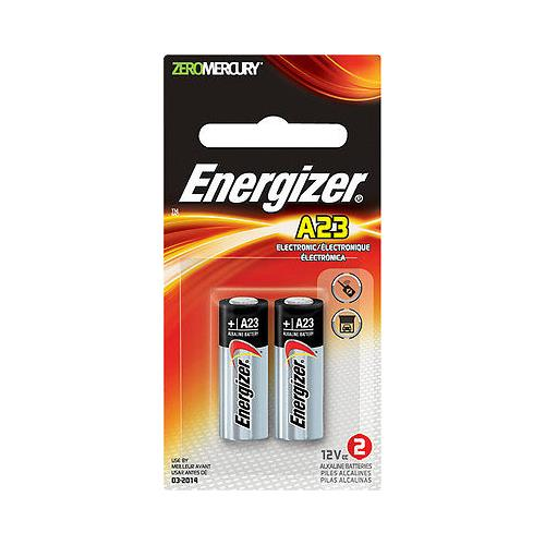 Energizer A23 12V Batteries 2 Packs of 2= 4 batteries (A23BPZ-2) by