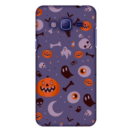 Samsung GALAXY J3 Case, Samsung GALAXY J3 2016 Case Premium Handcrafted Printed Halloween Designer Hard ShockProof Case Back Cover for Samsung GALAXY J3 J320F J3109 - Freaky Grey - Halloween Freaky Pics