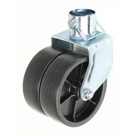 "New 6"" Dual Trailer Swirl Jack Caster Wheel With Pin - 26038"