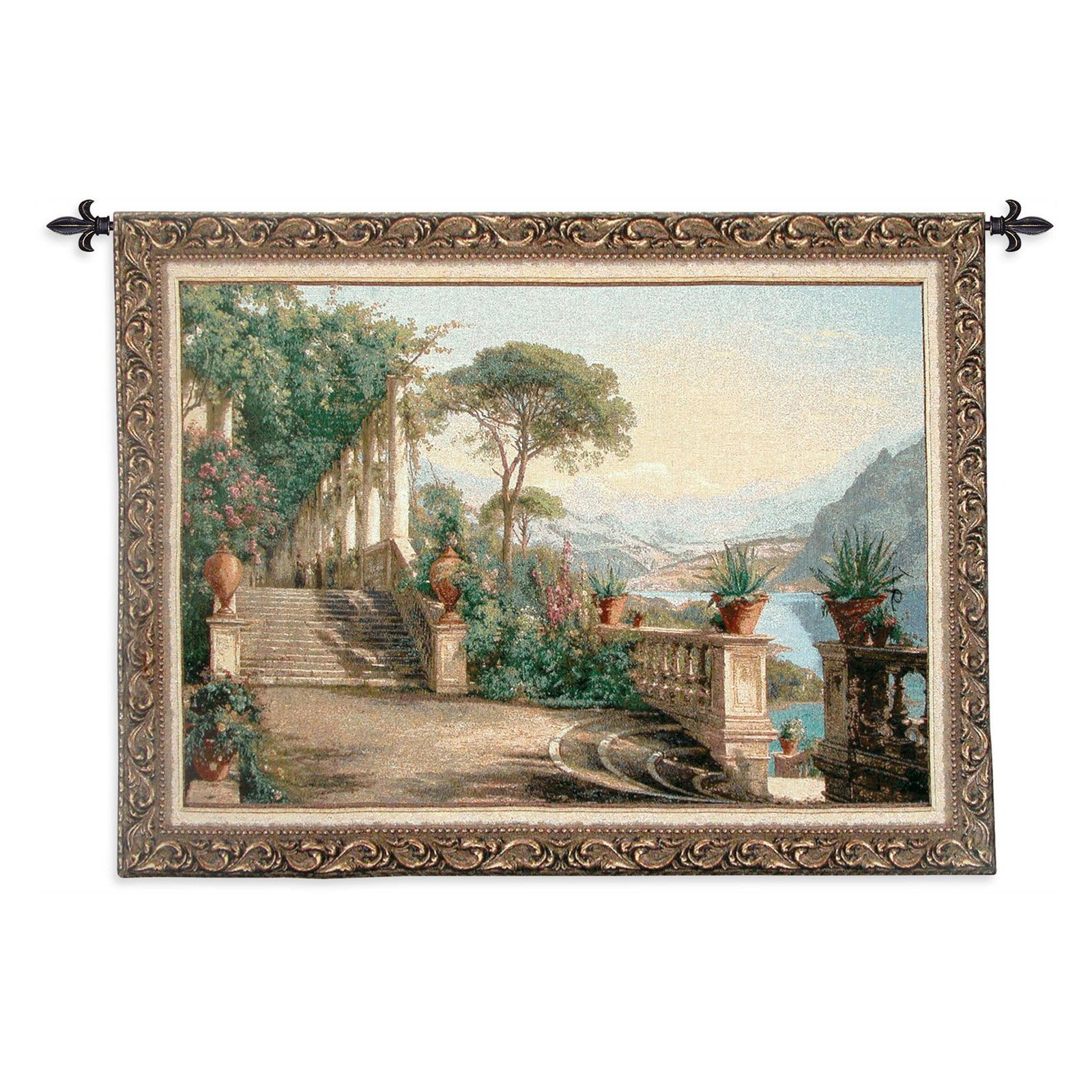 FineArtTapestries 1348-WH Lodge At Lake Como-Large Wall Tapestry by Supplier Generic