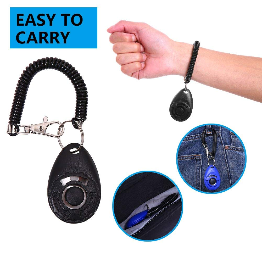 Cat traderplus 4-Pack Dog Training Clicker with Wrist Strap for Pet Puppy