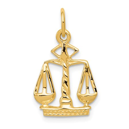 14k Yellow Gold Scales Of Justice Charm Pendant 21mmx13mm 14k Gold Scales