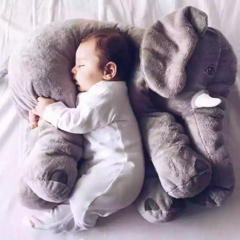Grey 60CM Cute Animal Pillow Elephant Children Soft Plush Toy Doll Baby Kids Birthday Gifts Toy Stuffed For Kids Sleeping Toys