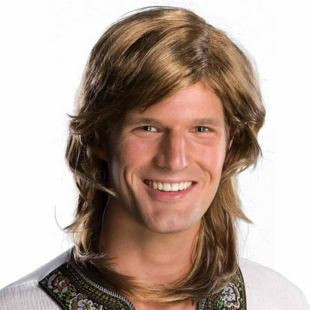 70s Guy Brown Wig Adult Halloween Costume Accessory (70s Halloween Accessories)