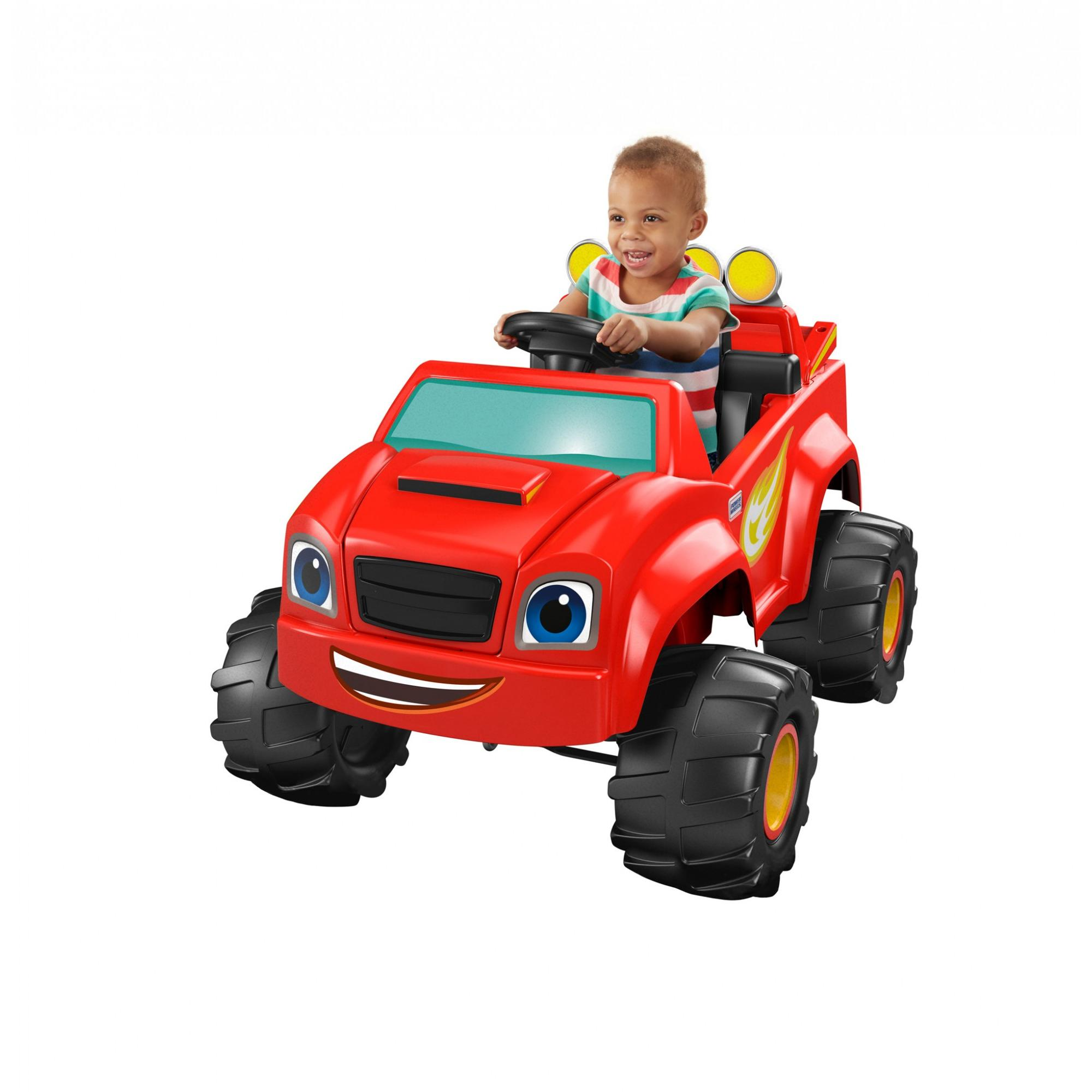 Power Wheels Boys' Nickelodeon Blaze Monster Truck 6V Battery-Powered Ride-On by FISHER PRICE