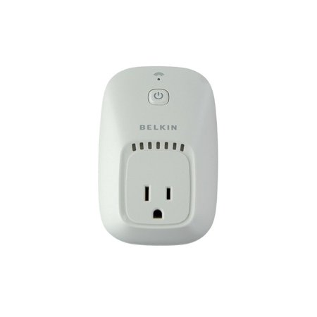 Belkin WeMo Switch + Motion iPhone Home Remote and Motion Sensor Belkin WeMo Switch + Motion iPhone Home Remote and Motion Sensor: Use motion to turn electronics on or off. The Belkin Switch Motion iPhone Home Remote and Motion Sensor operates over Wi-Fi and mobile InternetWorks with existing Wi-Fi router and any Apple iPod touch, iPhone, iPadPut your electronic devices on a scheduleModular systemControl as much or as little of your house as you want to6' power cord and 10' motion sensitivity range allow for optimal placement of WeMo Motion sensorThe Belkin Wemo Motion plugs into any regular 120V wall outletIntuitive, easy setupFree app