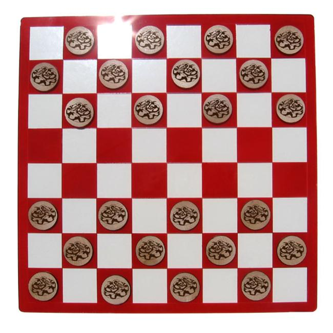 CAMIC designs REP004CKS Laser-Etched Ball Python Checkers Set