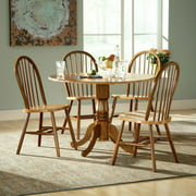 International Concepts Hickory Valley 5 Piece Dual Drop Leaf Table with Windsor Chairs