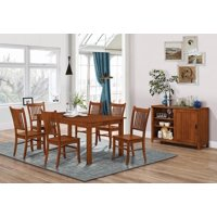 """Coaster Company Marbrisa 70"""" Dining Table, Burnished Oak (Chairs Sold Separately)"""